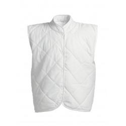 Ватиран елек за работа ROME | Бяло