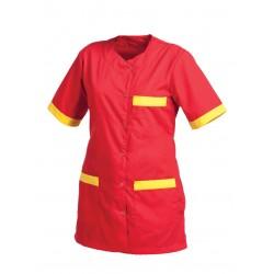 Работна туника с къс ръкав SOFIA | Червено
