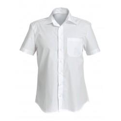 Мъжка риза с къс ръкав ZUMA | Бяло