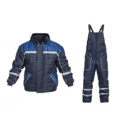 Ватиран работен комплект яке и полугащеризон GAMMA Set | Тъмно синьо