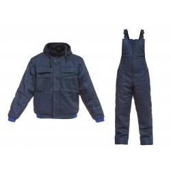 Ватиран работен комплект яке и полугащеризон TORNADO Set | Тъмно синьо