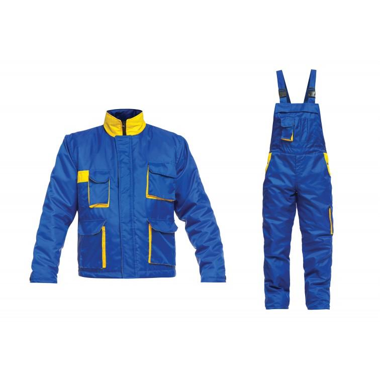 Ватиран работен комплект яке и полугащеризон HAIL Set   Синьо