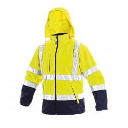 Работно яке софтшел с качулка DERBI Jacket | Жълто