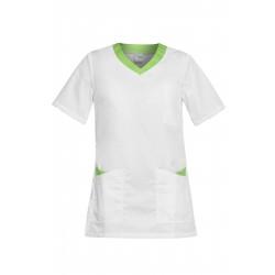 Работна туника PAOLA | Бяло | Зелено