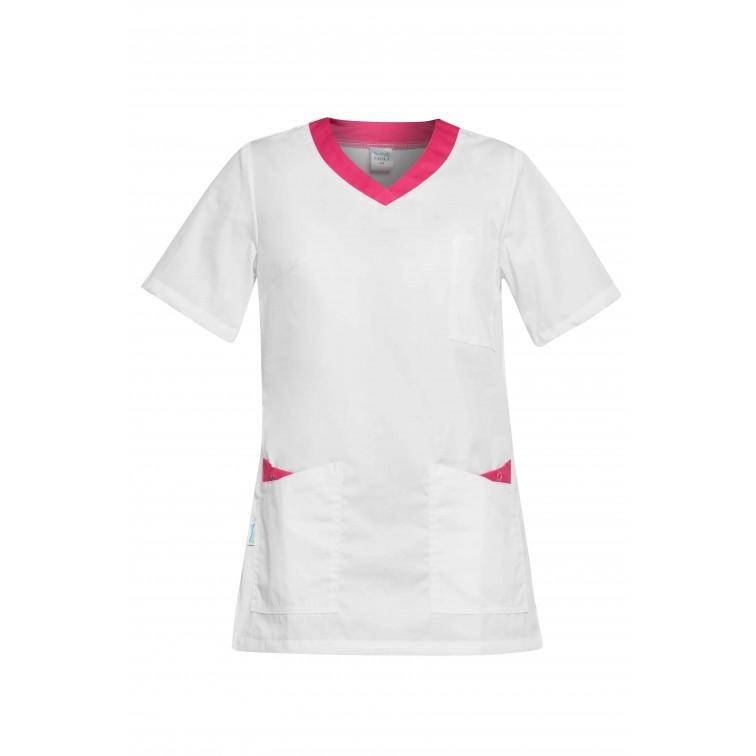 Работна туника PAOLA | Бяло | Розово