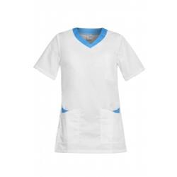 Работна туника PAOLA | Бяло | Синьо