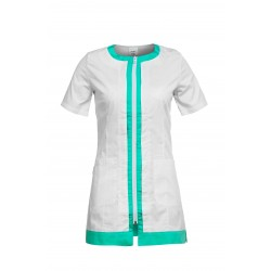 Работна туника EVA | Бяло | Зелено