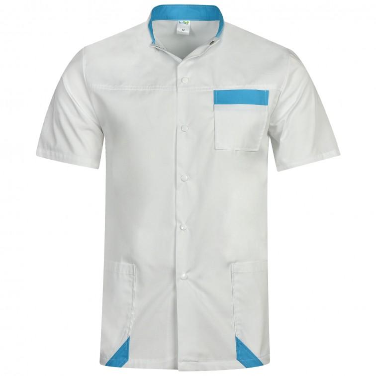 Работна туника MASSIMO | Бяло | Синьо