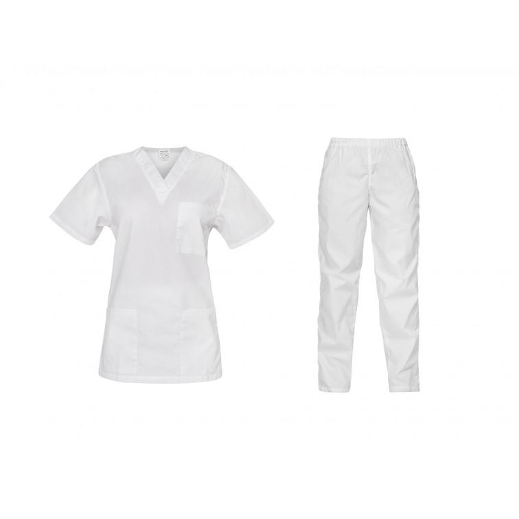 Комплект туника и панталон CESARE | Бяло