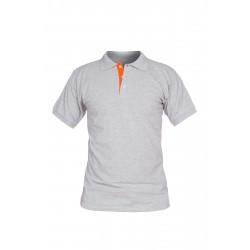Тениска La Coste | Сиво с оранжево
