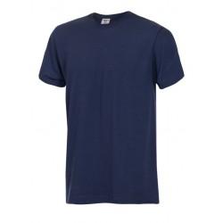 Тениска с обло деколте | Тъмносин цвят