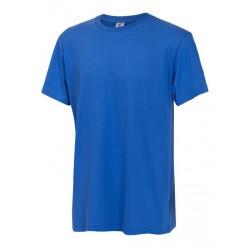 Тениска с обло деколте | Кралско син цвят