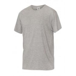 Тениска с обло деколте | Сив цвят