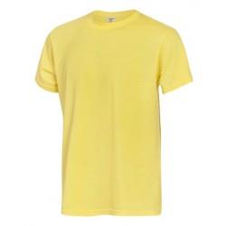 Тениска с обло деколте | Жълт цвят