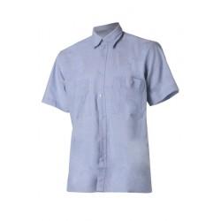 Риза с къс ръкав   Светлосин цвят