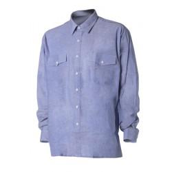 Риза с дълъг ръкав   Светлосин цвят