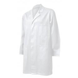 Мъжка манта с дълъг ръкав | Бял цвят