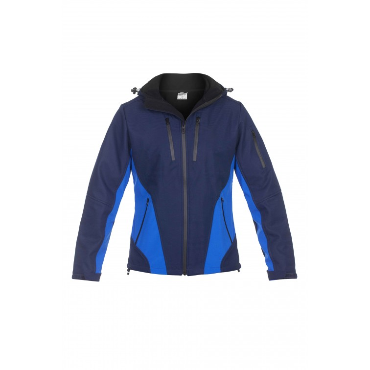 Работно яке софтшел с качулка OLYMP Jacket | Тъмно синьо