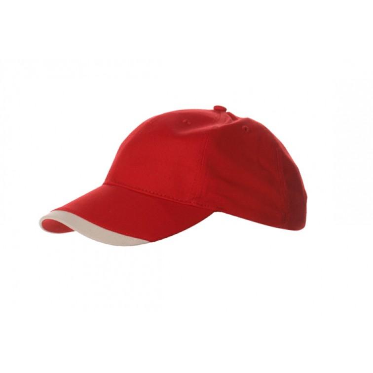 Шапка с твърда козирка | Червен цвят