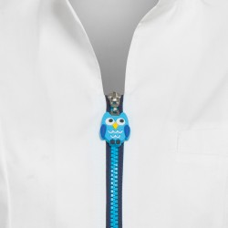 Работна туника TINA | Бяло | Синьо цип