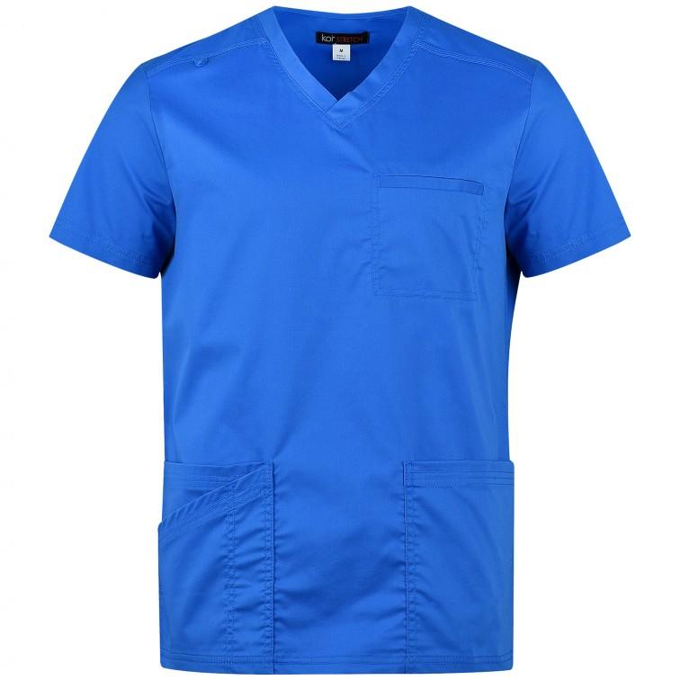 Мъжка медицинска туника TYLER - вталена | KOI Design | Синьо