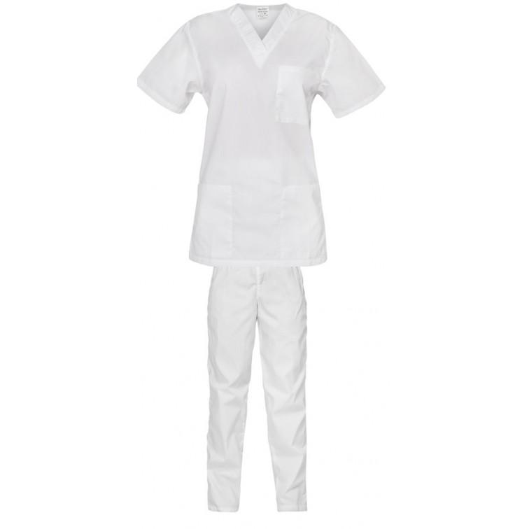 Комплект туника и панталон CESARE   Бял