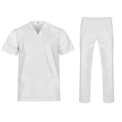 Комплект туника и панталон COLOMBO | Бял