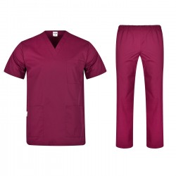 Комплект туника и панталон COLOMBO | Винено червен