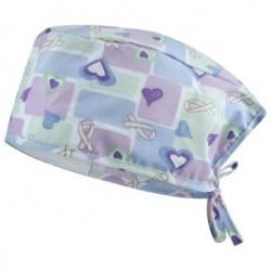 Хирургическа шапка със сърца и панделки | ADRIANA | B-well