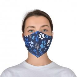 Текстилна защитна маска за многократна употреба ALMA | Син цвят с цветни мотиви