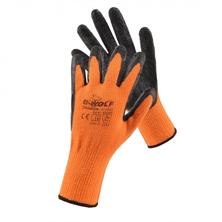 Работни ръкавици DRAGON   Оранжево   Черно