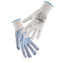 Работни ръкавици с ПВХ точки KELE | Бяло