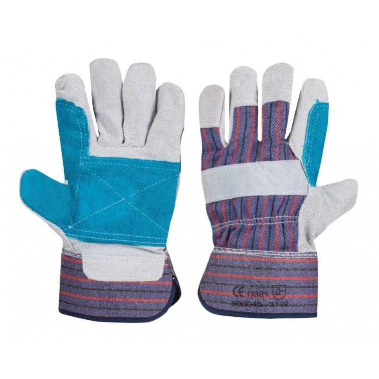 Работни ръкавици с подсилена длан COLI | Синьо