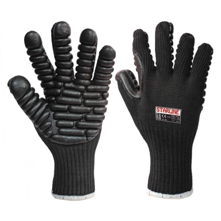 Работни ръкавици антивибрационни  VIBRA | Черно