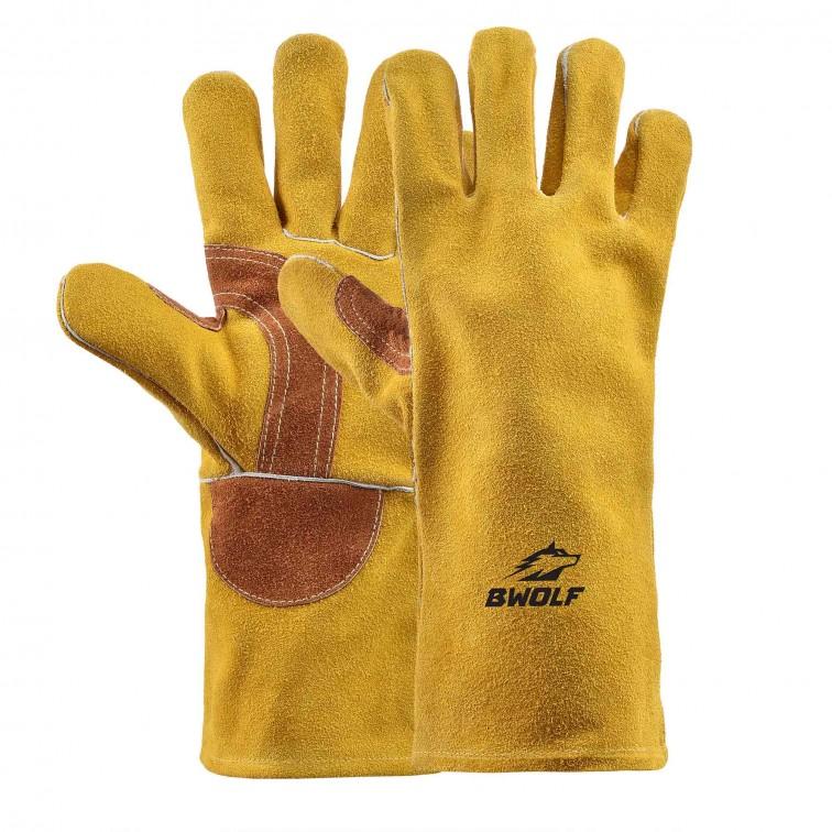 Работни ръкавици за заваряване BARON | Жълто