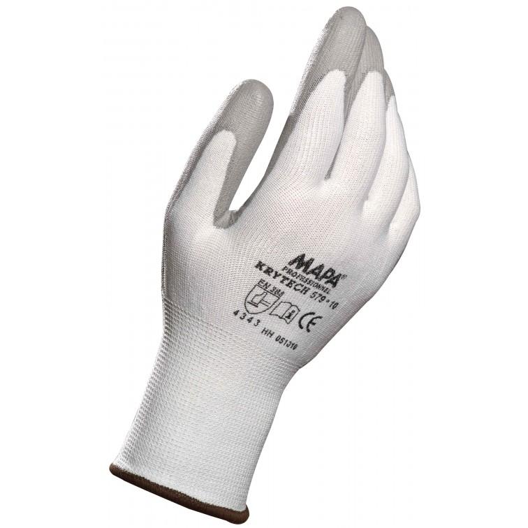 Работни ръкавици противосрезни KRYTECH 579 | Бяло